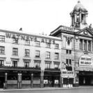 Photo:Victoria Palace Theatre, 126 Victoria Street, showing Off the record starring Eddie Calvert and Nat Jackley and the Duke of York Public House, 132-134 Victoria Street, 1954