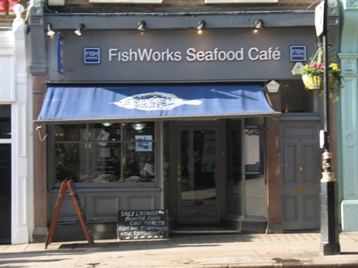 Photo:FishWorks Seafood Cafe, 89 Marylebone High Street in 2010. Photograph by Adrian Autton