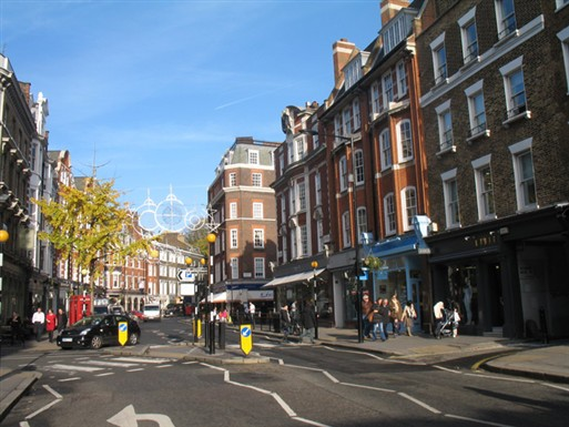 Photo:Marylebone High Street in 2010. Photograph by Adrian Autton