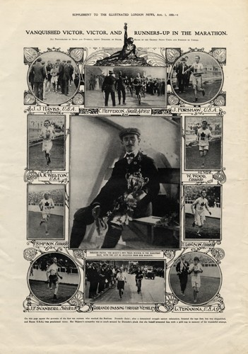 Photo:Illustrated London News supplement on the marathon at the 1908 London Olympics