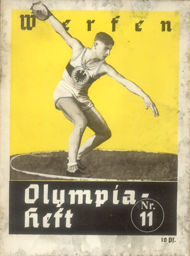 Photo:Front cover of programme for the throwing events at the 1936 Berlin Olympics