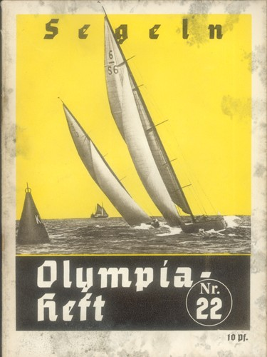 Photo:Front cover of programme for the sailing events at the 1936 Berlin Olympics