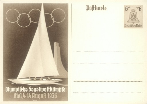 Photo:Postcard featuring sailing at the 1936 Berlin Olympics